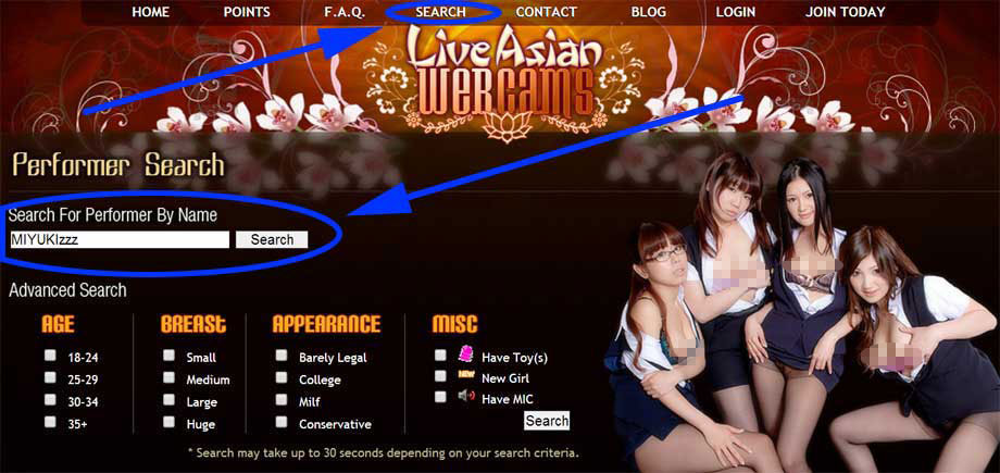 live asian webcams search
