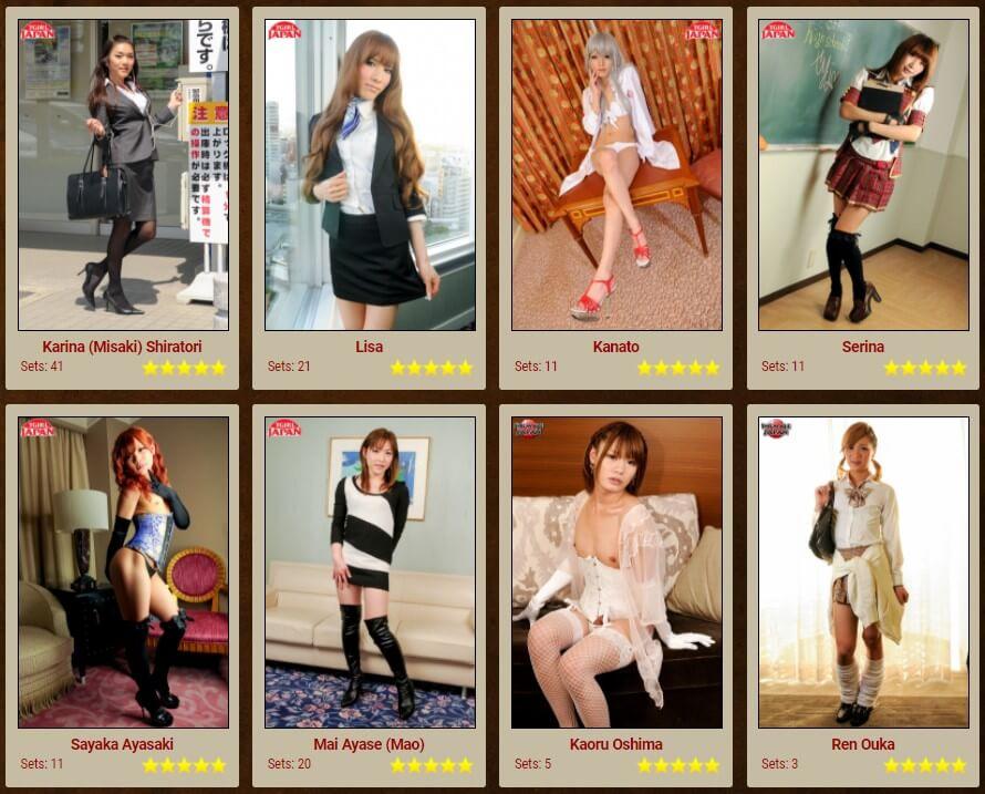 Japanese newhalf models at Japan Tgirl