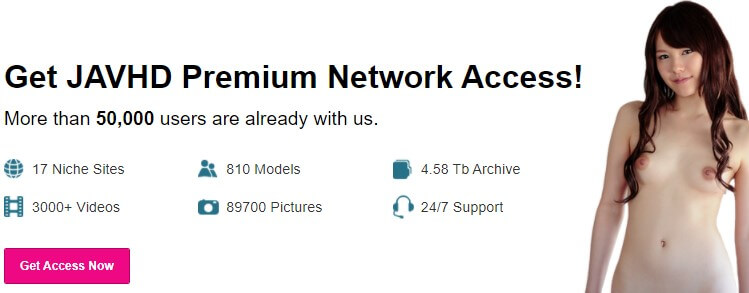 javhd network with 50000 users and 3000+ videos